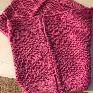 Pink Infinity scarf One Size Acrylic NWOT